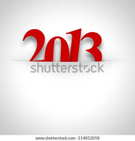 2013 new year date background with place for text - stock photo