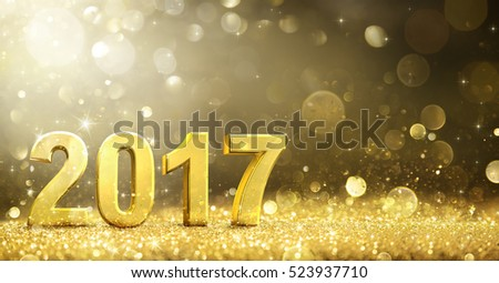 2017 -  New Year Decoration - Greeting Card