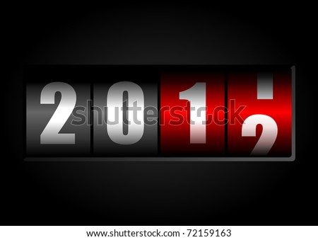2012 new year illustration with counter - stock photo