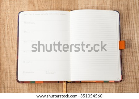 New Year 2017 in the German diary 2016 - stock photo