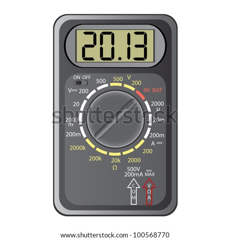 2013 New Year Multimeter  on a white background. - stock photo