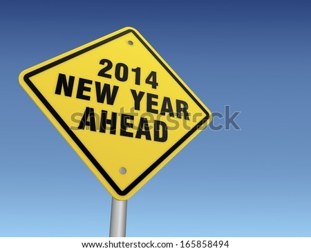 2014 new year sign
