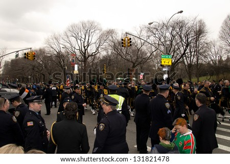 NEW YORK, NY - MARCH 17: 251st annual St. Patrick's Day parade on the March 17, 2013 in New York, United States.