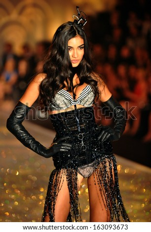NEW YORK, NY - NOVEMBER 13: Kelly Gale walks in the 2013 Victoria's Secret Fashion Show at Lexington Avenue Armory on November 13, 2013 in New York City.