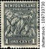 NEWFOUNDLAND - CIRCA 1935: A stamp printed in Newfoundland shows Codfish, circa 1935 - stock photo