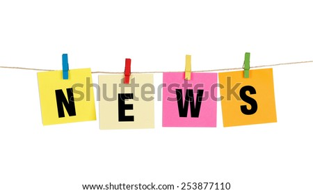 """News"" word on post it - stock photo"