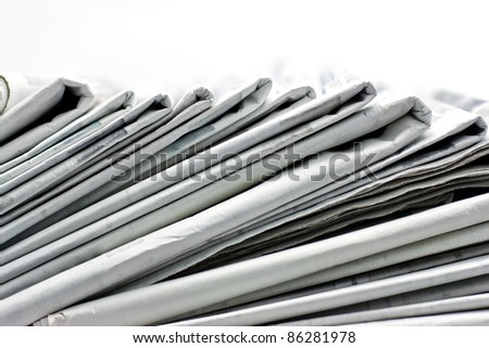 ,newspaper for information, - stock photo