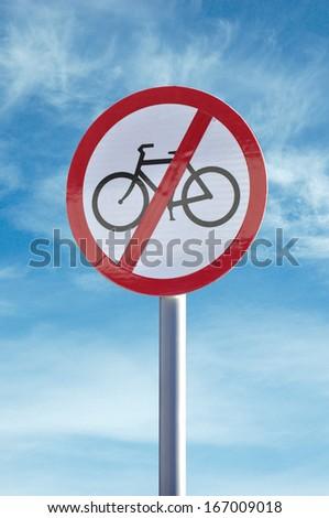 'No cycling' sign - stock photo