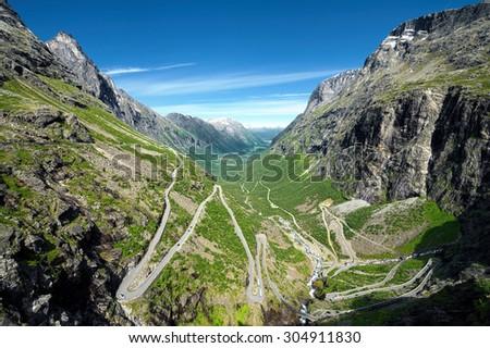 Norway. Scandinavia. Travel. Trollstigen road.  - stock photo