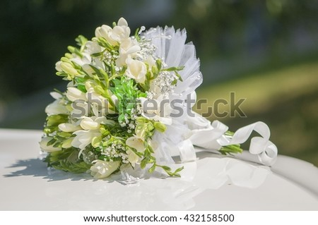 Nosegay, Bridal bouquet with white flowers
