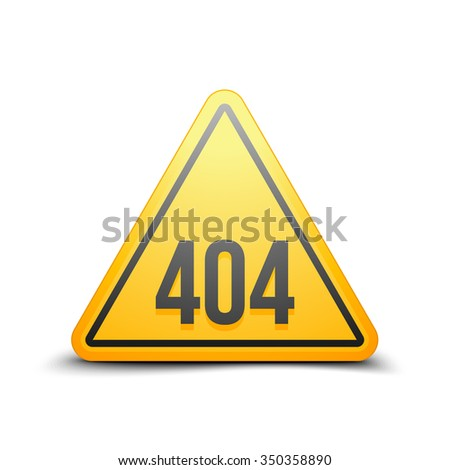 404 Not found error sign