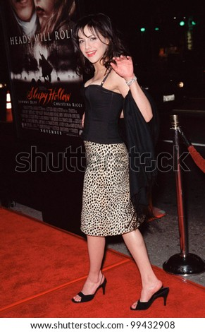 "17NOV99:  Actress BRITTANY MURPHY at the world premiere, in Hollywood, of  ""Sleepy Hollow""  which stars Johnny Depp & Christina Ricci.  Paul Smith / Featureflash - stock photo"