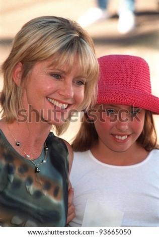 02NOV97:  Singer OLIVIA NEWTON-JOHN & daughter CHLOE at the Environmental Media Awards in Los Angeles. - stock photo