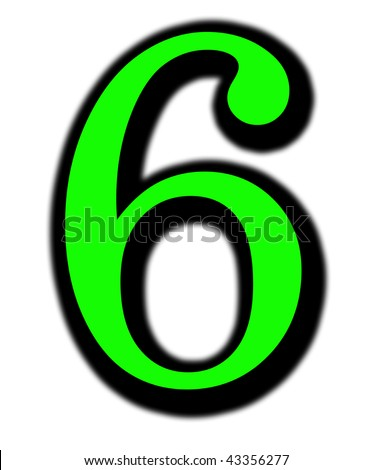 6 number - stock photo