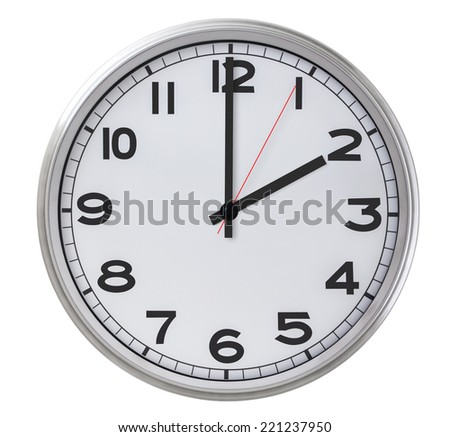 2 o'clock - stock photo