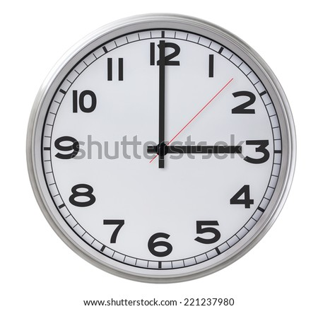 3 o'clock - stock photo