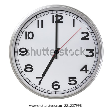 7 o'clock - stock photo