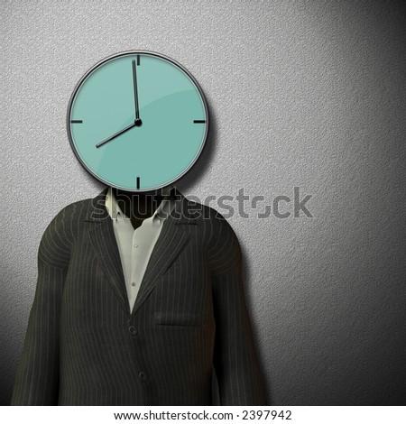 8 o'clock Start of work day - stock photo