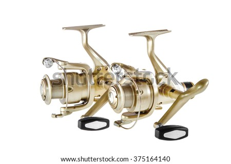 object on a white background fishing reel