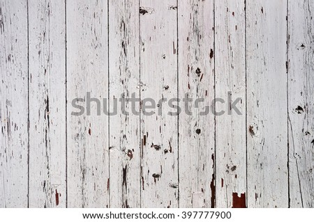 Obsolete weathered striped painted wooden planks background