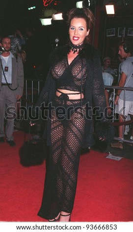 "15OCT97: Actress HEATHER ELIZABETH PARKHURST at the premiere of ""Boogie Nights."" The movie is about a family of actors & filmmakers in the adult movie business."