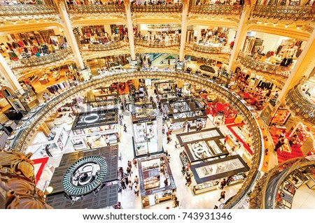 18 october 2017 france paris gallery stock photo royalty free