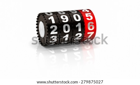 2016 Odometer. New Year concept illustration. Render image.