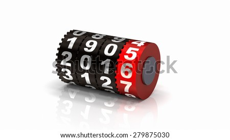 2016 Odometer. New Year concept illustration. Render image. - stock photo