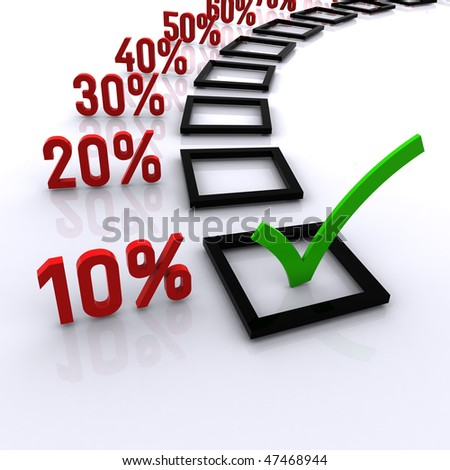 10% Off - stock photo