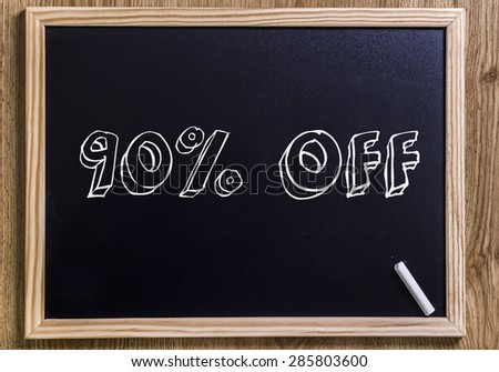 90% off - New chalkboard with 3D outlined text - on wood