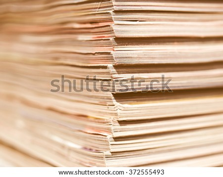 Office paper documents useful as a background - with selective focus vintage