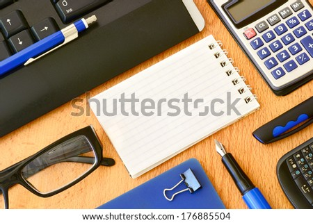 Office work atmosphere, equipment                               - stock photo