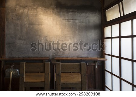 old desk and?Chair - stock photo