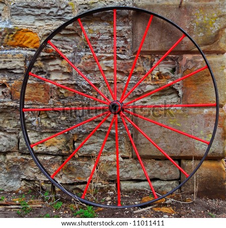 Old Fashioned Red Wheel