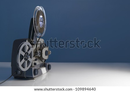 old movie projector textures - stock photo