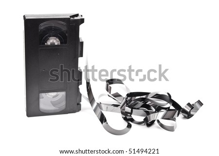 Old VCR tape - stock photo