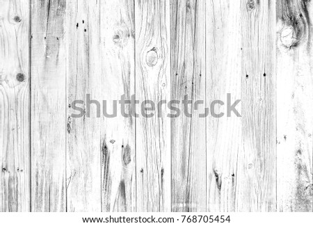 Old white smooth wood background Or hardwood flooring with a grunge background. Wood surface touching view Top Vintage wood with natural wood texture