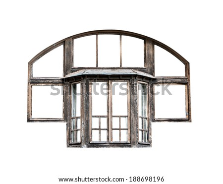 Old Window Frame Isolated Stock Photo (Edit Now)- Shutterstock