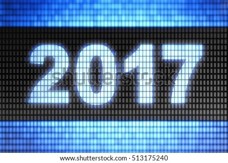"""2017"" on the screen."