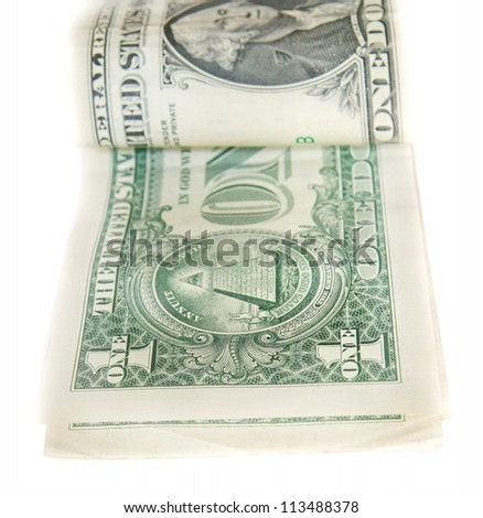 one dollar bills - stock photo