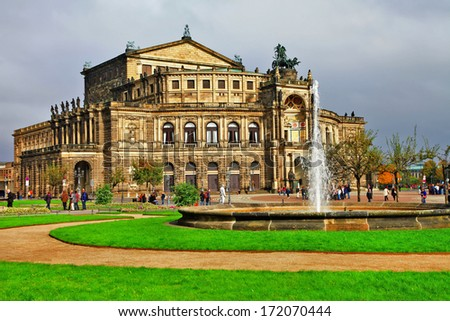 Opera House in Dresden, Germany.