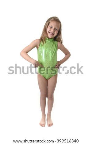 6 or 7 years old little girl with blond hair and blue eyes smiling happy posing isolated on white background pointing tummy in language lesson for child education and body parts school chart set - stock photo