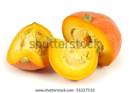 Orange pumpkin on white background