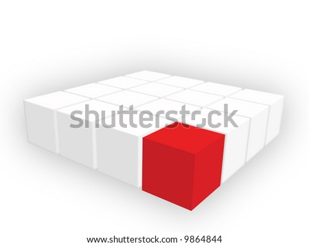 Organized group of cubes - stock photo