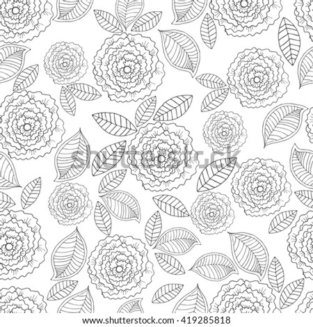 Ornate seamless pattern with the stylized flowers. Seamless pattern can be used for wallpaper, pattern fills, web page background, surface textures.