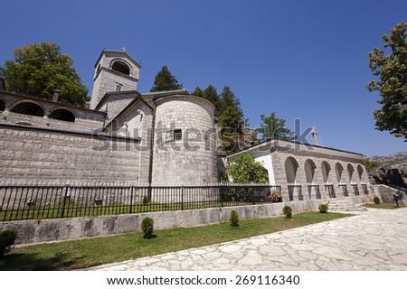 Orthodox Monastery the Nativity the Blessed Virgin Mary Cetinje Montenegro - stock photo