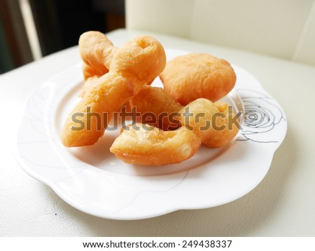 'Pa Tong Kho' Thai Style Deep-fried Dough Stick or popularly known as You Tiao, a popular Chinese cuisine