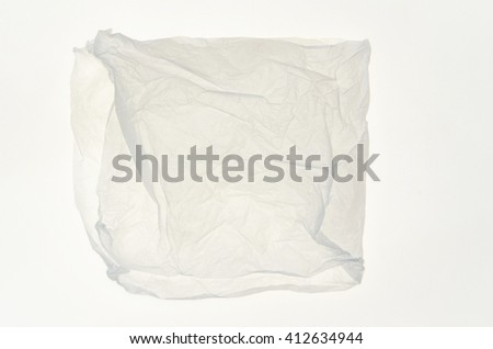 packaging tissue paper isolated on white background
