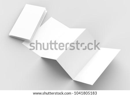 8 page leaflet 4 panel accordion stock illustration 1041805183