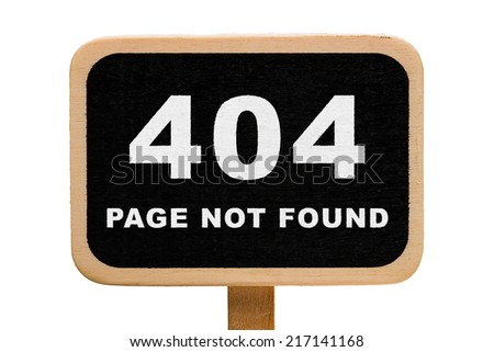 404 - Page not found - stock photo